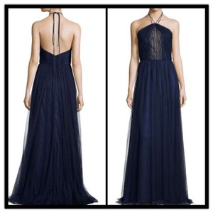 Monique Lhuillier Evening Halter Gown Dress