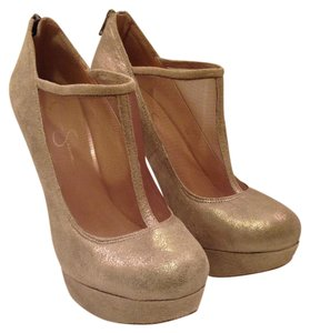 Jessica Simpson Gold Platforms