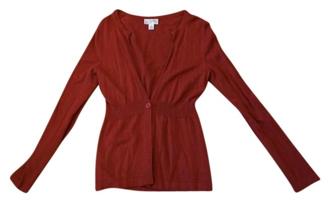 Item - Red V-neck Cardigan Size 4 (S)