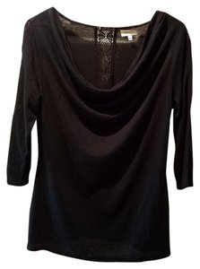 Anthropologie Deletta Deletta Tunic Top Black