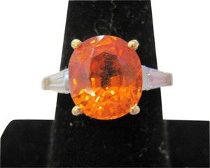 Other 5.62 CTw Mandarin Orange Spessartine Garnet Diamond Ring
