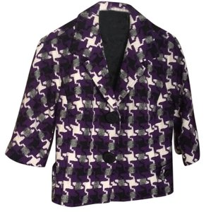 Harold Powell Purple black checker Blazer