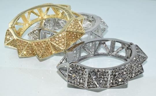 Other Bling Me Please Thick HollowSpikes Rhinestone Hinge Cuff Bracelet Image 1