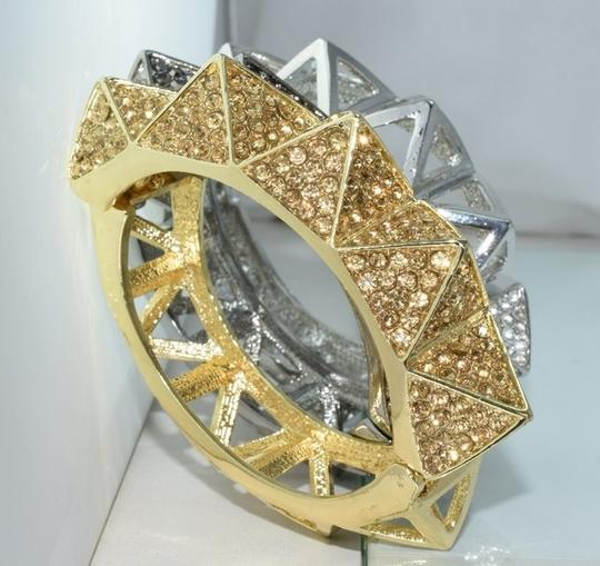 Other Bling Me Please Thick HollowSpikes Rhinestone Hinge Cuff Bracelet Image 2