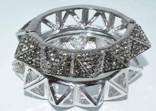 Other Bling Me Please Thick HollowSpikes Rhinestone Hinge Cuff Bracelet Image 3