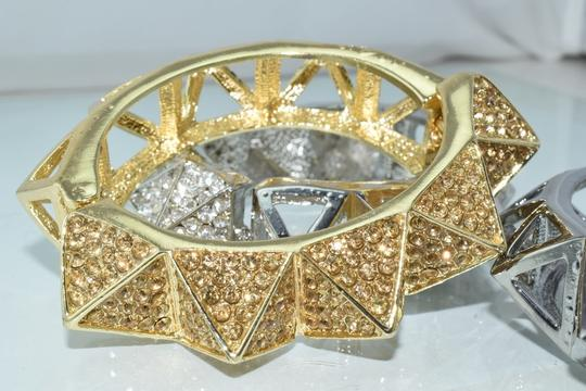 Other Bling Me Please Thick HollowSpikes Rhinestone Hinge Cuff Bracelet Image 4