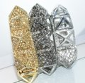 Other Bling Me Please Thick HollowSpikes Rhinestone Hinge Cuff Bracelet Image 7
