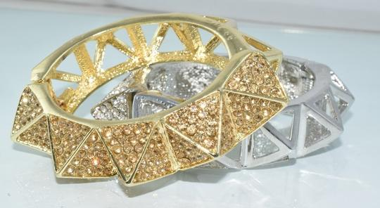 Other Bling Me Please Thick HollowSpikes Rhinestone Hinge Cuff Bracelet Image 8