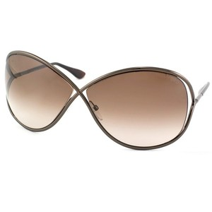 Tom Ford Tom Ford TF130 Signature Miranda Model Brown Oversized Sunglasses