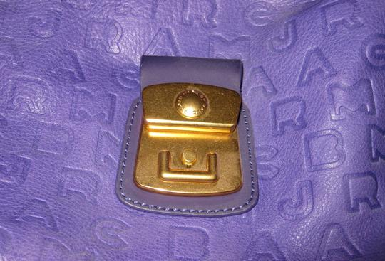 Marc by Marc Jacobs Embossed Leather Gold Hardware Zipper Hobo Bag