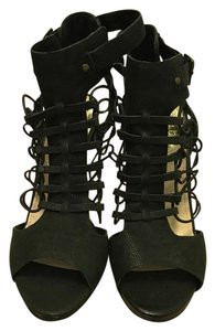 Vince Camuto Gladiator Pumps Gladiator Strappy Zip Up Black suede / leather Sandals