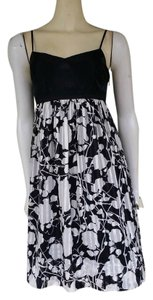 BCBGMAXAZRIA Silk Floral Adjustable Straps Dress