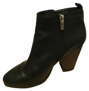 Coach Chunky Leather Leather Hewes Bootie - black Boots