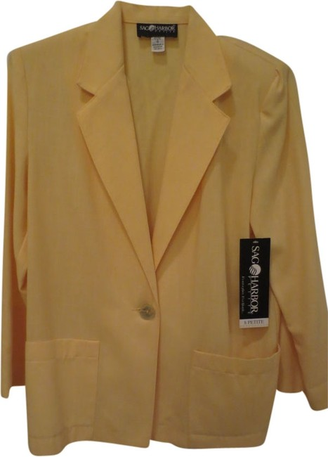 Preload https://item2.tradesy.com/images/sag-harbor-yellow-style-2700-spring-jacket-size-petite-8-m-1975926-0-0.jpg?width=400&height=650