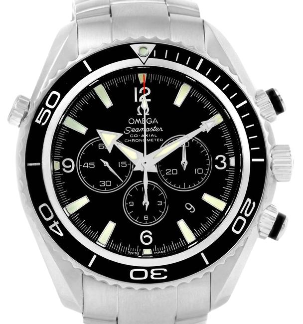 Omega Black Seamaster Planet Ocean Chronograph 2210.50.00 Watch Omega Black Seamaster Planet Ocean Chronograph 2210.50.00 Watch Image 1