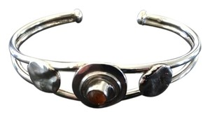 Other Silver Cuff Bracelet with Amber Stone