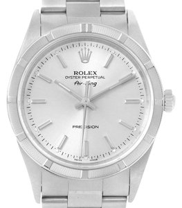 Rolex Rolex Air King Stainless Steel Silver Dial Oyster Bracelet Watch 14010