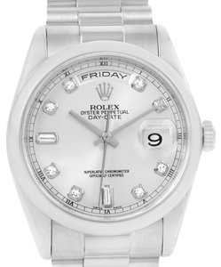 Rolex Rolex President Day-Date Platinum Diamond Mens Watch 118206
