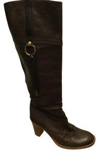 Coach Knee-high Riding Walking chocolate brown Boots