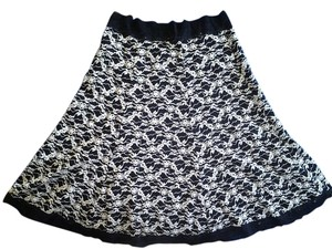 CAbi Mini Skirt black and cream