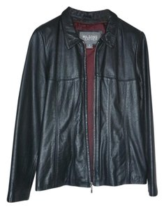 Wilson Vintage Fitted black Leather Jacket