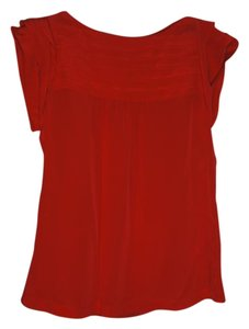 Banana Republic Silk Elegant Top Red