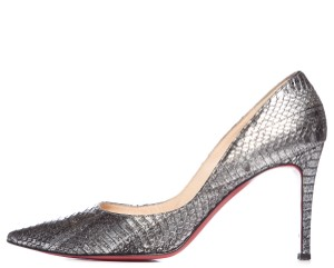 Christian Louboutin Metallic Silver Pumps