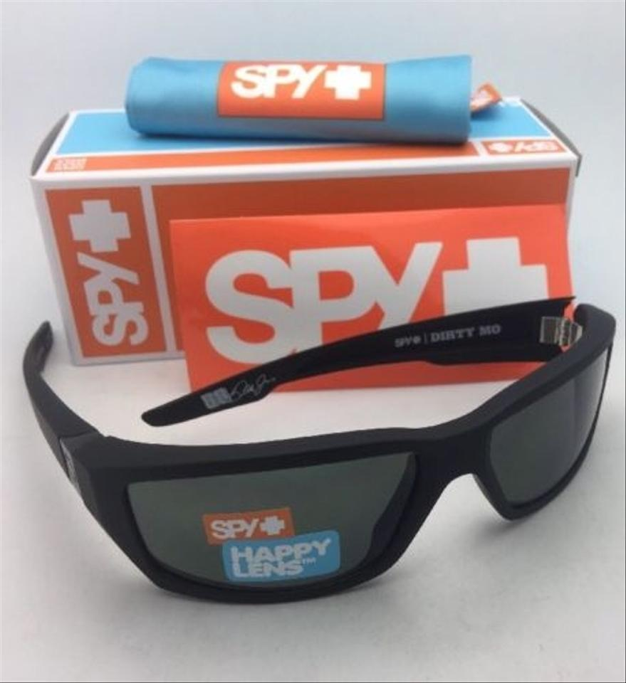 e3f0ddb4d0 Spy New SPY OPTIC Sunglasses DIRTY MO Soft Matte Black Frame w Grey-Green.  123456789