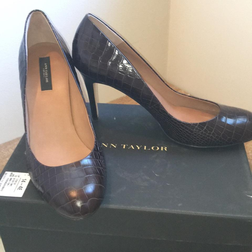 ann taylor 186424 perfect crocco brown pumps on sale 78 off pumps on sale. Black Bedroom Furniture Sets. Home Design Ideas