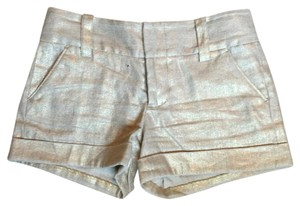 Alice + Olivia + Metallic Mini/Short Shorts Gold