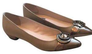 Claudia Ciuti Dark Tan Flats