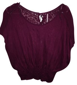 Free People Top Dark Burgundy