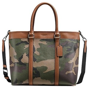 Coach Tote in Green Camo