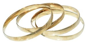Other Autumn Smooth Gold Tone (4pc) Thick Bangle Set