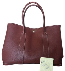 Herms Tote in Rouge h