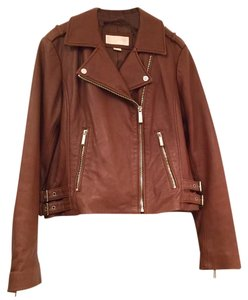 Michael Kors Brown Leather Jacket