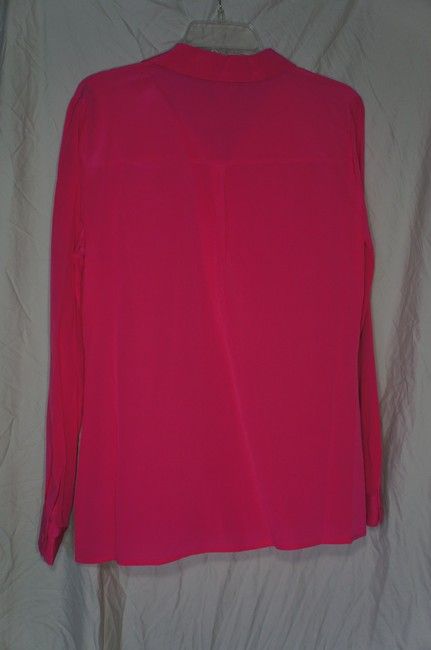 Worthington Essential Silk Elegant Vibrant Layering Button Down Shirt pink Image 2