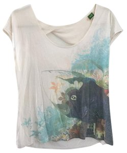 Anthropologie Whale Print Printed Ocean Octopus T Shirt Multicolored
