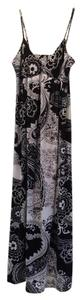 Black and white paisley Maxi Dress by Ice