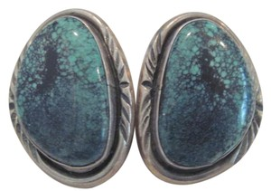 Tom Willeto Sterling Silver Turquoise Earrings