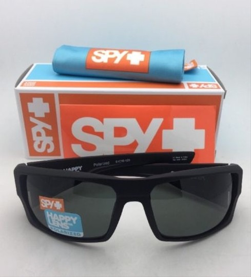 Spy Polarized SPY OPTIC Sunglasses DIRK Soft Matte Black w/ Grey-Green Image 2