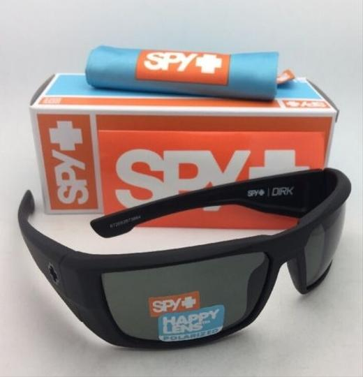 Spy Polarized SPY OPTIC Sunglasses DIRK Soft Matte Black w/ Grey-Green Image 4