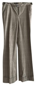 Banana Republic Wide Leg Pants Brown/Beige Plaid