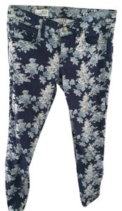 Gap Flower Floral Pattern Skinny Jeans-Acid