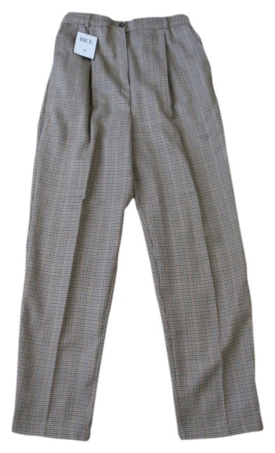 Preload https://item1.tradesy.com/images/beige-plaid-with-flexible-waist-trousers-size-10-m-31-1976050-0-0.jpg?width=400&height=650