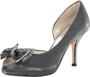 Caparros Sexy Stilettos Silvery Shimmer in Gun Metal Gray Formal