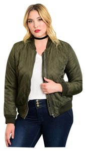 Plus Size Xlarge Quilted Military Jacket