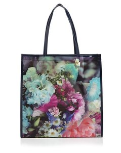 Ted Baker Large Nwt Floral Tote in DARK BLUE