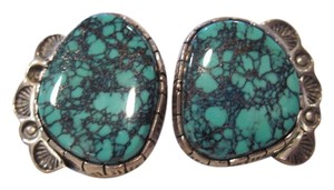 Other Inlaid Turquoise Shell Earrings by J. Abeyta.