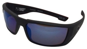 Spy Polarized SPY OPTIC Sunglasses DIRK Matte Black Frame w/ Blue Mirror